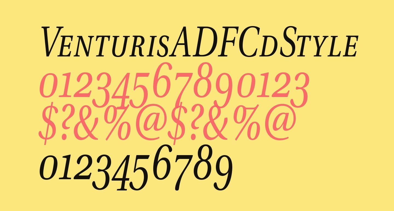 VenturisADFCdStyle-Italic