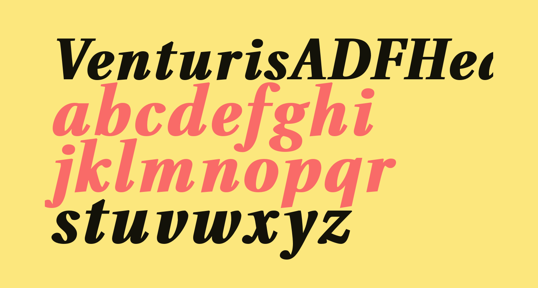 VenturisADFHeavy-Italic