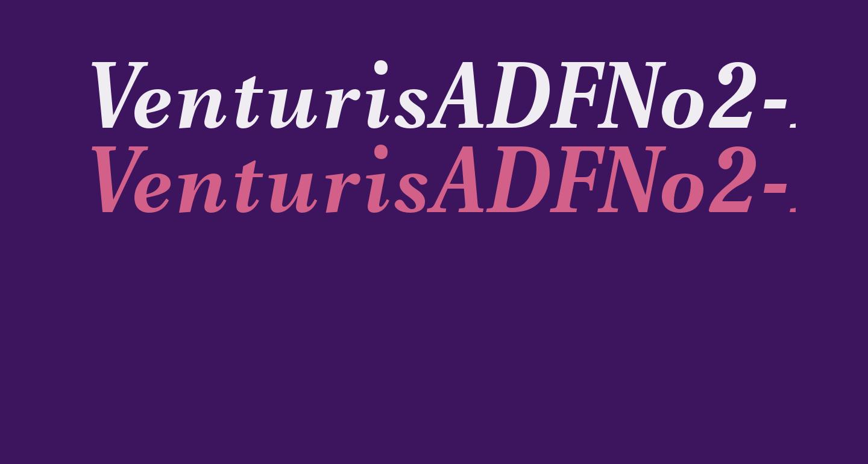 VenturisADFNo2-BoldItalic