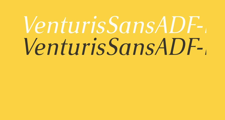 VenturisSansADF-Italic
