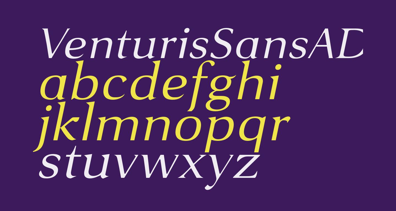VenturisSansADFEx-Italic