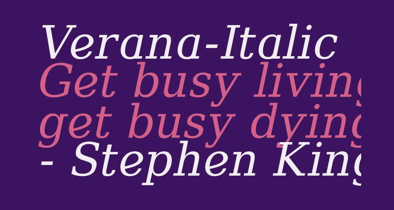 Verana-Italic