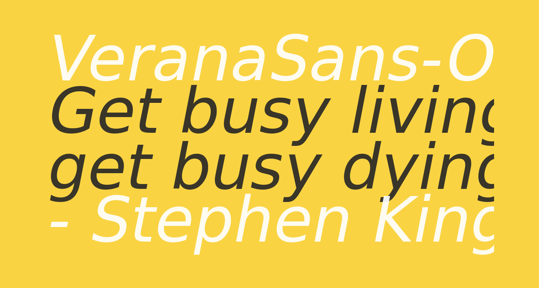 VeranaSans-Oblique