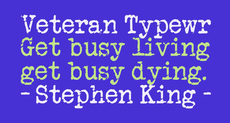 Veteran Typewriter