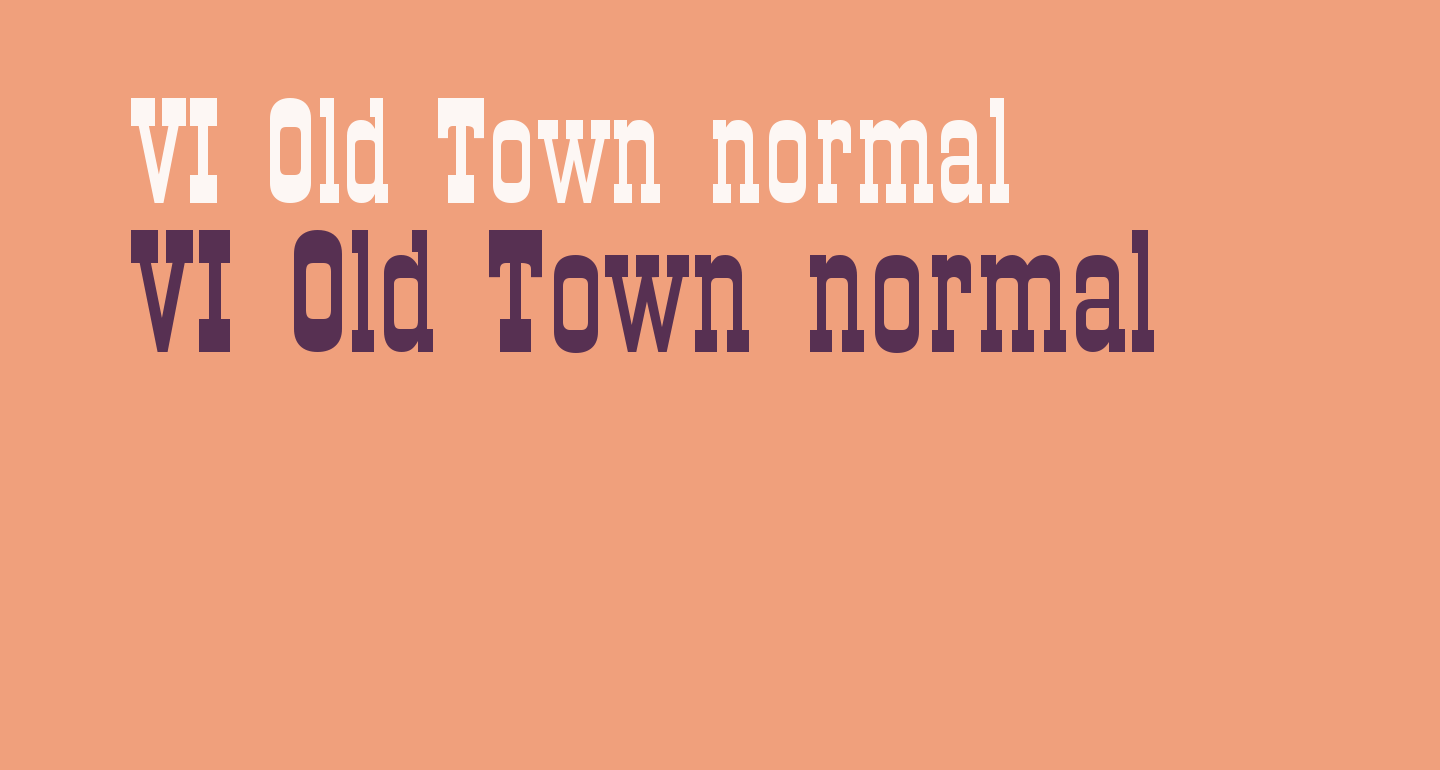 VI Old Town normal