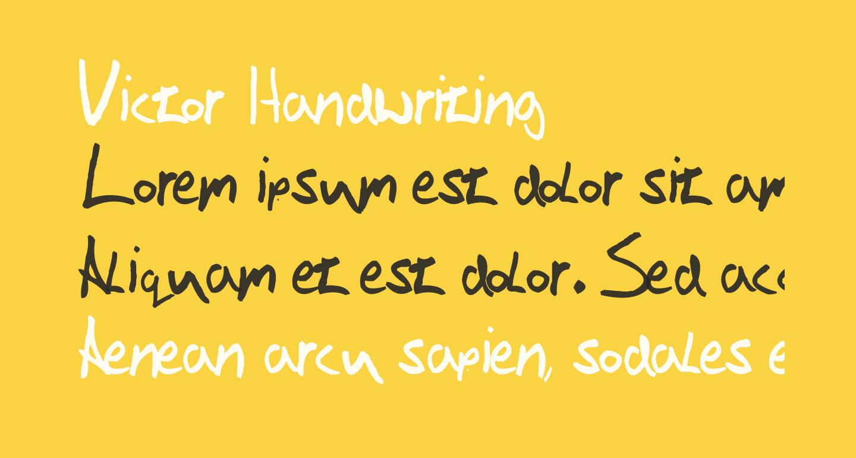 Victor Handwriting