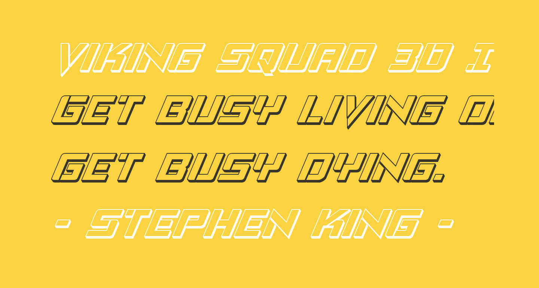 Viking Squad 3D Italic