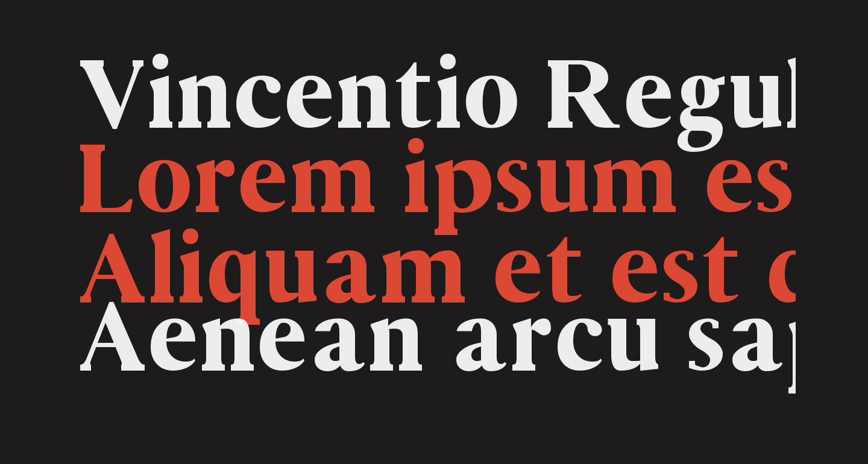 Vincentio Regular