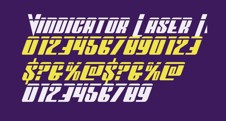 Vindicator Laser Italic
