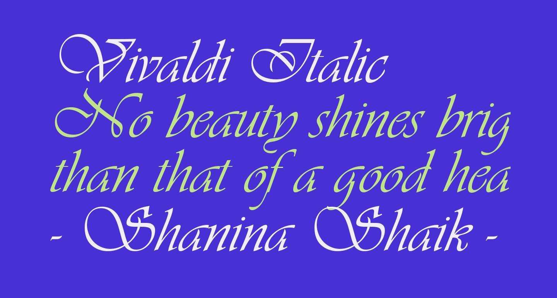 Vivaldi Italic