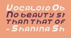 Vocaloid Oblique