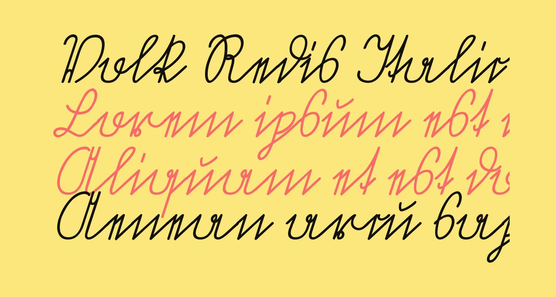Volk Redis Italic