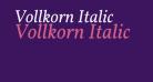 Vollkorn Italic