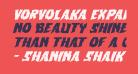 Vorvolaka Expanded Italic