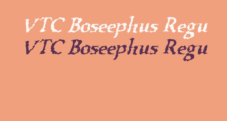 VTC Boseephus RegularItalic