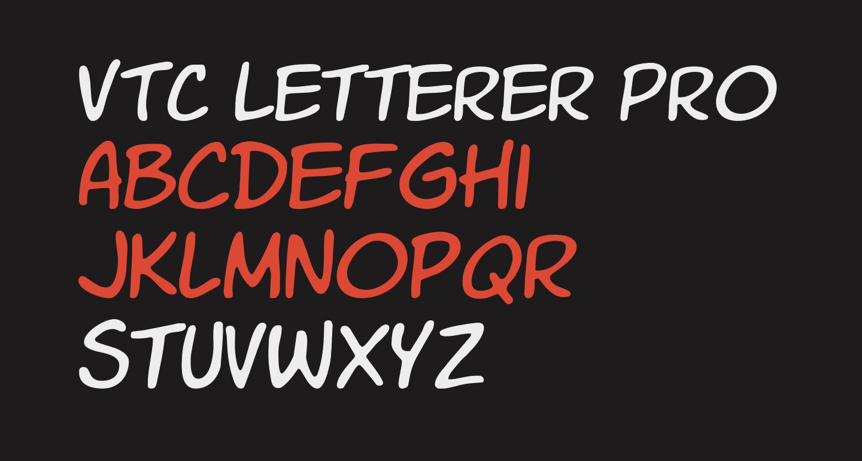 VTC Letterer Pro Regular