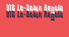 VTC Lo-Down Regular
