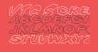 VTC ScreamItLoud Outline Italic