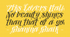 Vtks Lovers Italic
