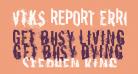 vtks REPORT erRoR