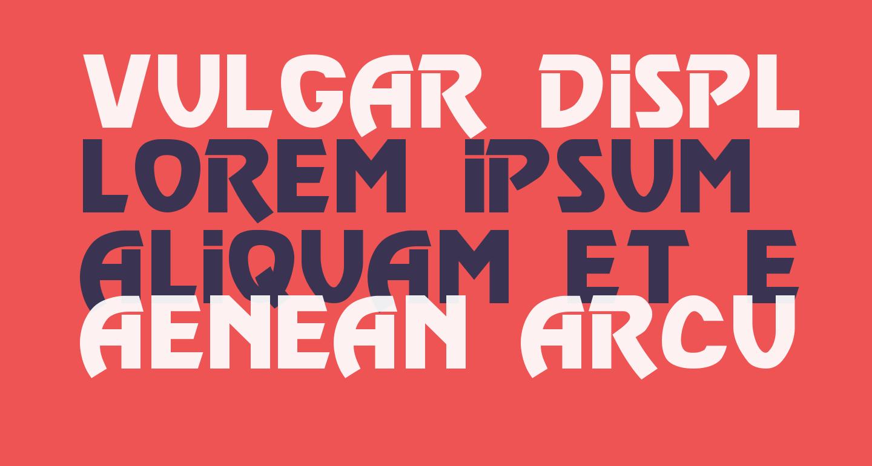 Vulgar Display Regular