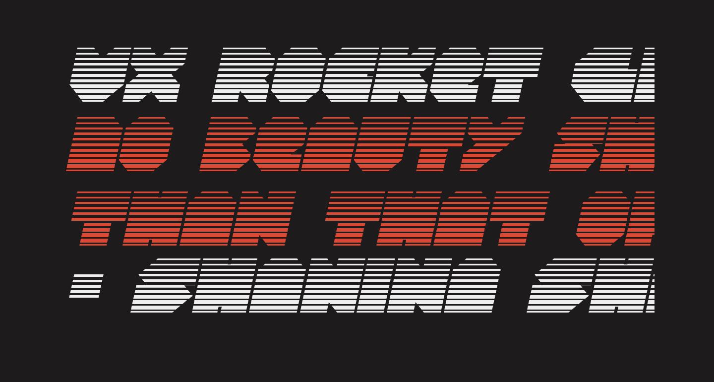 VX Rocket Gradient Italic