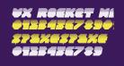 VX Rocket Halftone Italic
