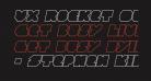 VX Rocket Outline Italic