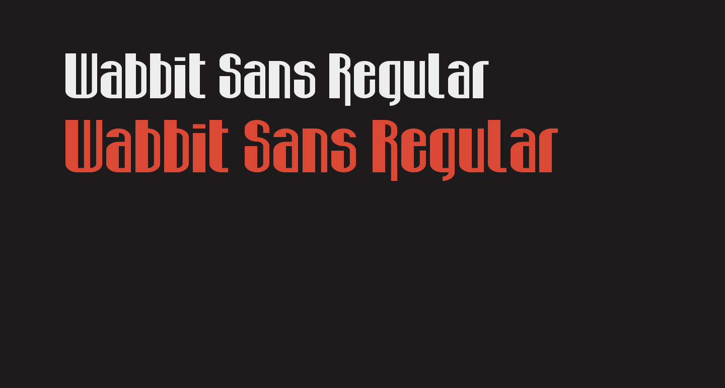 Wabbit Sans Regular