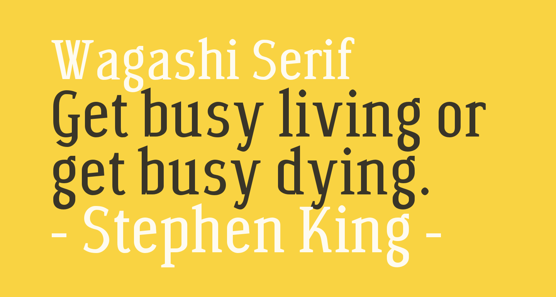 Wagashi Serif