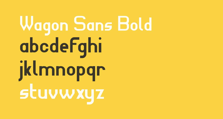 Wagon Sans Bold