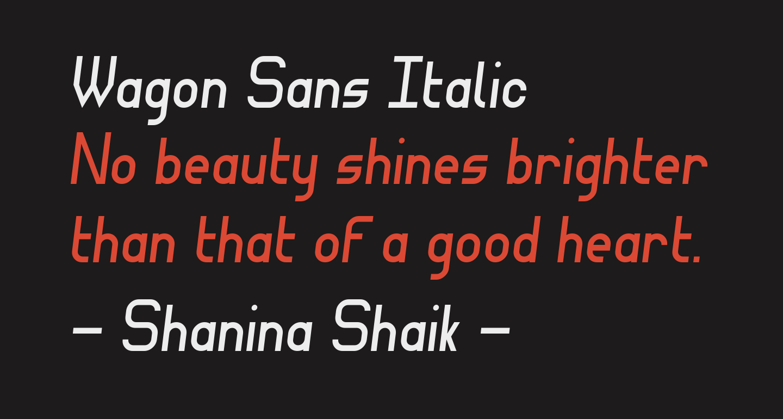 Wagon Sans Italic