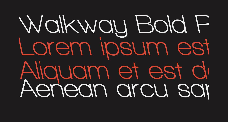 Walkway Bold RevOblique