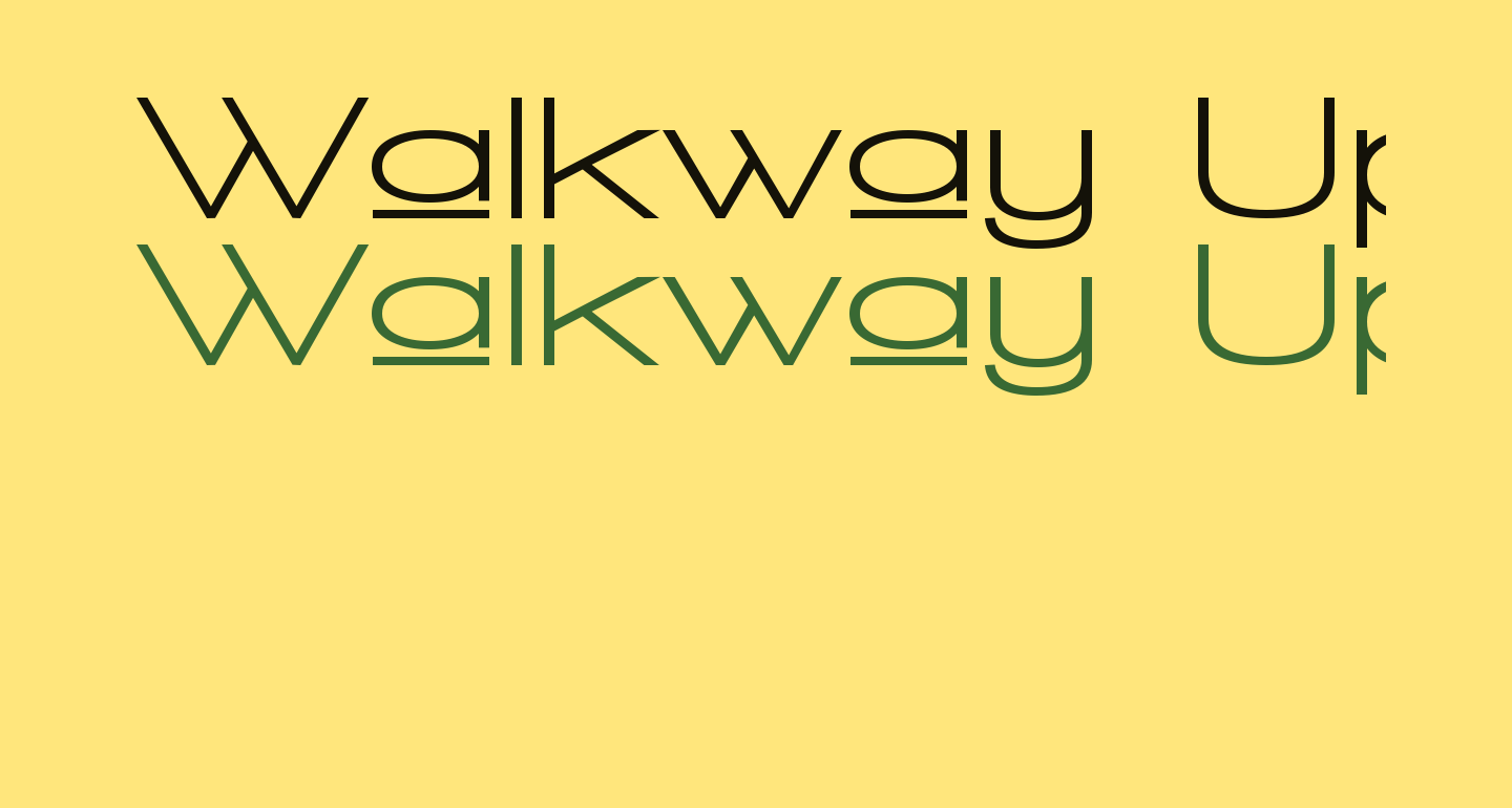 Walkway Upper Expand Bold