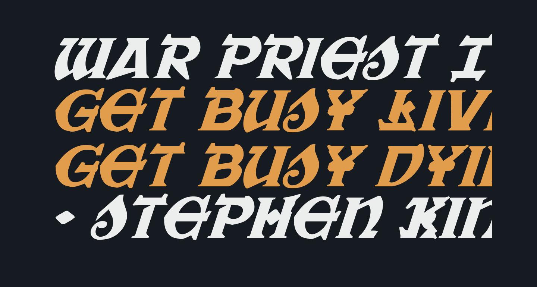 War Priest Italic