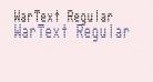 WarText Regular