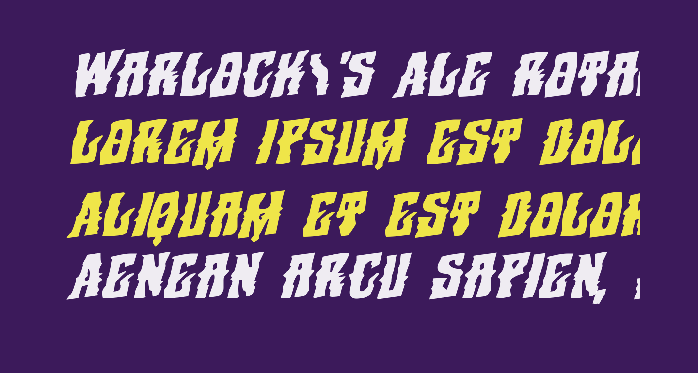 Warlock's Ale Rotalic