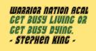 Warrior Nation Academy Italic