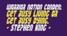 Warrior Nation Condensed Italic