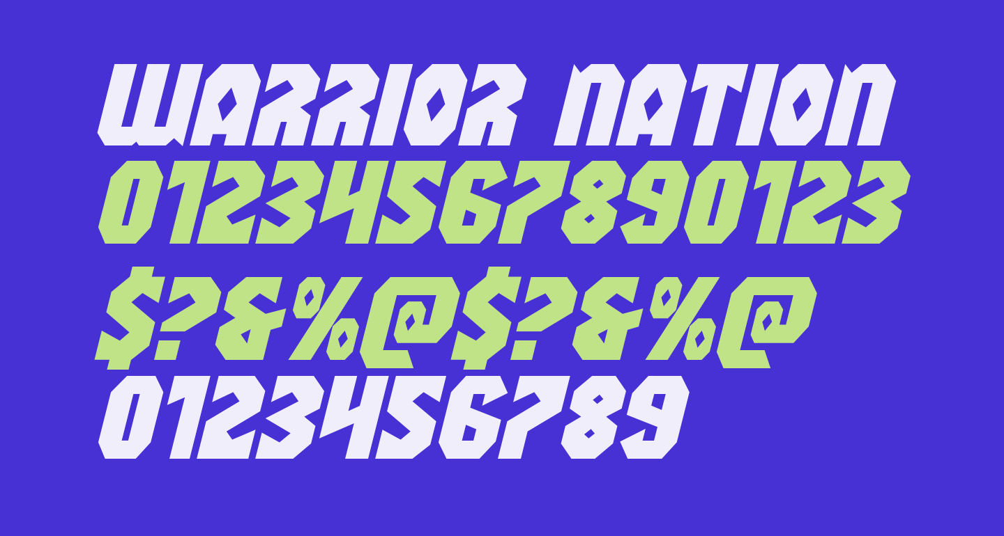 Warrior Nation Expanded Italic