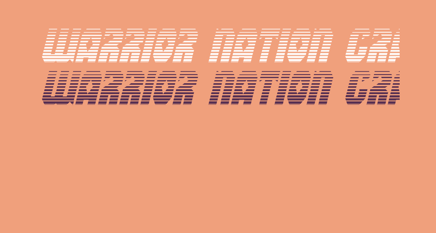 Warrior Nation Gradient Italic