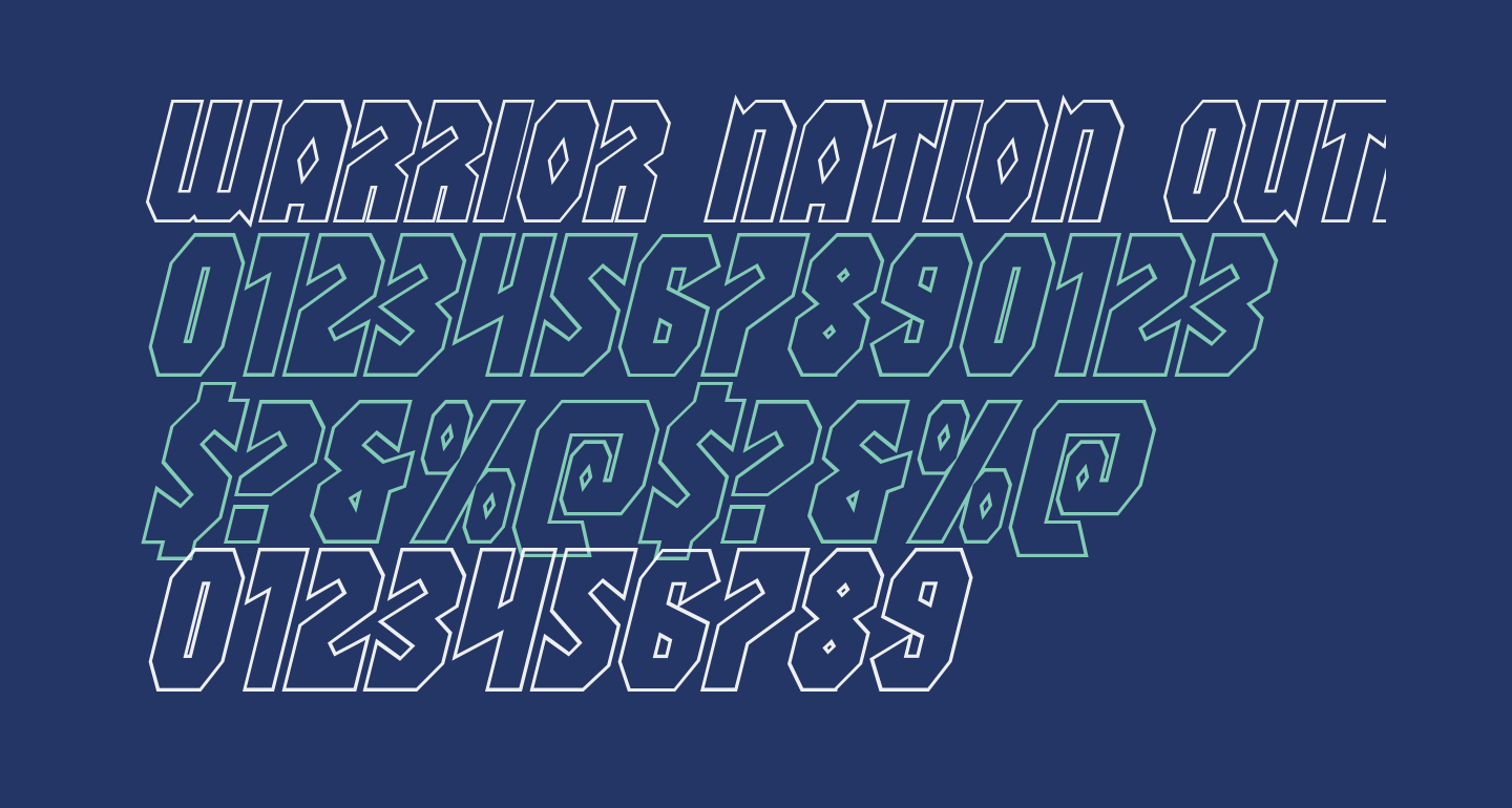 Warrior Nation Outline Italic