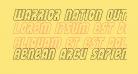 Warrior Nation Outline Italic