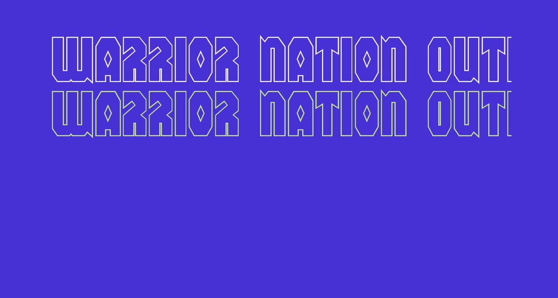 Warrior Nation Outline Regular