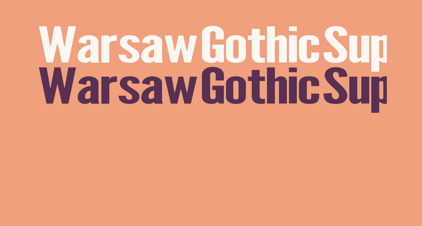 Warsaw Gothic SuperExtended