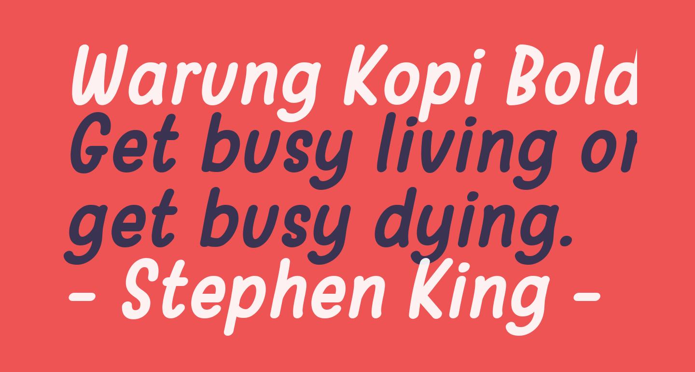 Warung Kopi Bold Italic