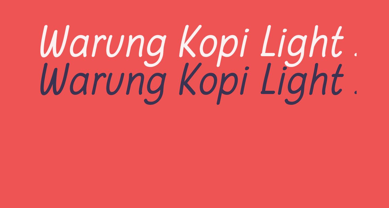 Warung Kopi Light Italic