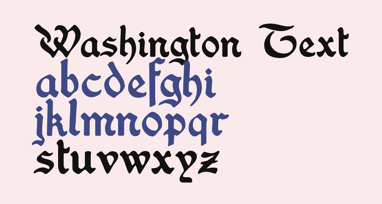 Washington Text Alternates