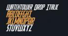 Watchtower Drop Italic
