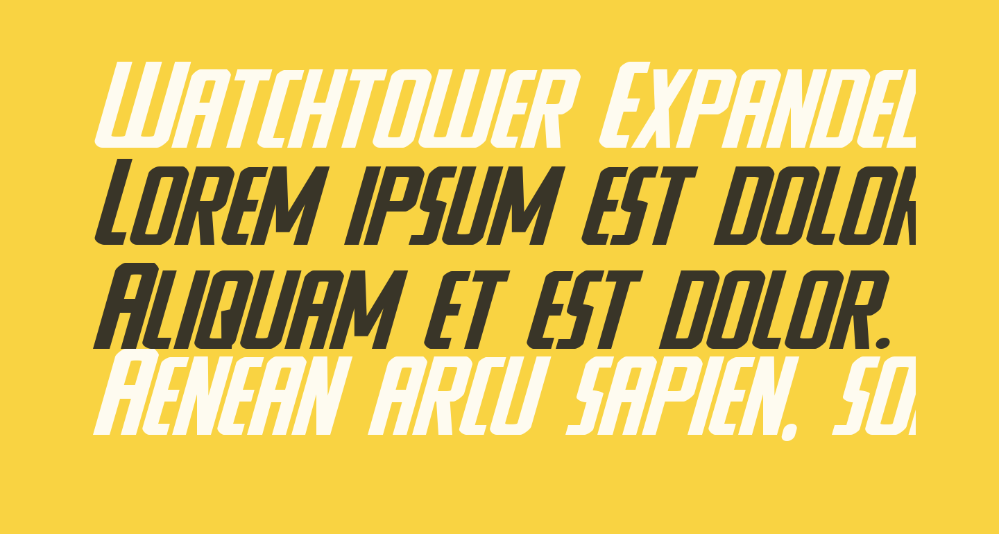 Watchtower Expanded Italic